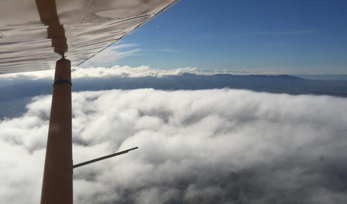 Rundflug im Flugzeug