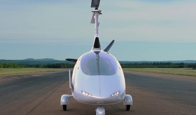 Weißer Gyrokopter