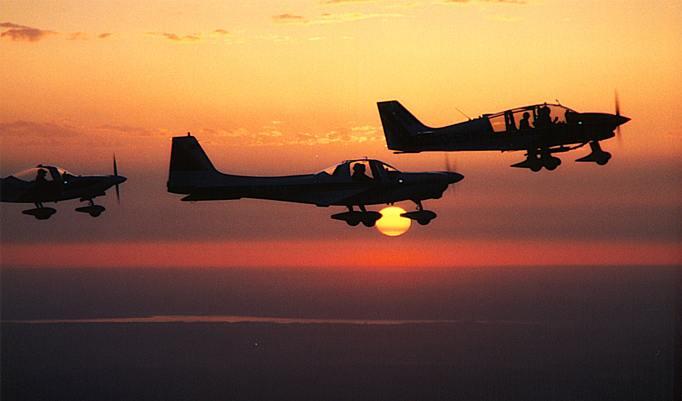 Rundflug Sonnenuntergang