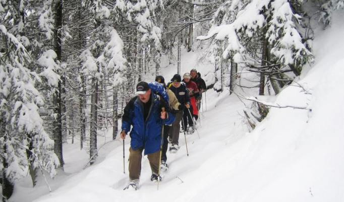 Schneeschuhwanderung für Firmen