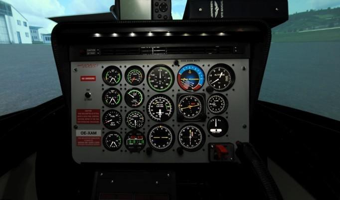 Gerätschaften im Flugsimulator