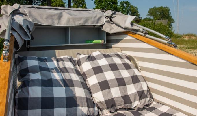 Strandschlafkorb Erlebnis in Sierksdorf