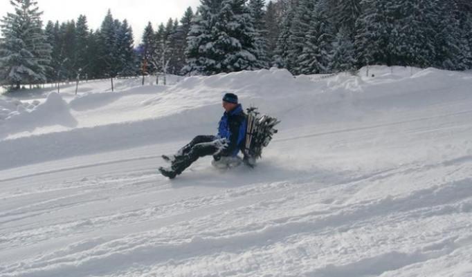 Spaß mit dem Ski-Bockerl