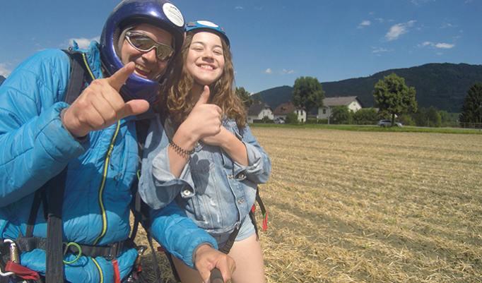 Gleitschirm Action Flug in Österreich