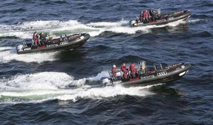 Speedboot Rennen fahren