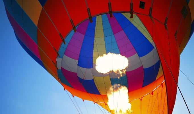 morgens Ballonfahren