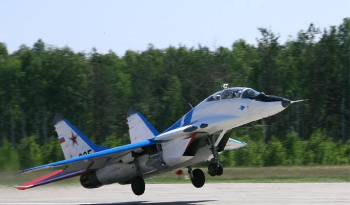 Startender MIG Kampfjet