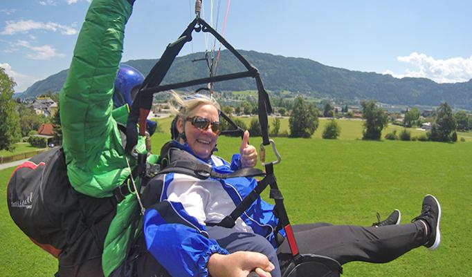 Gutschein für Tandem Gleitschirmfliegen in Österreich