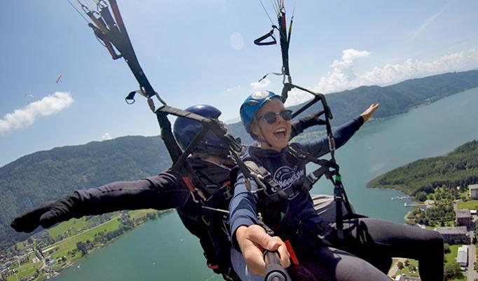 Gutschein für Tandemgleitshirm Actionflug in Österreich