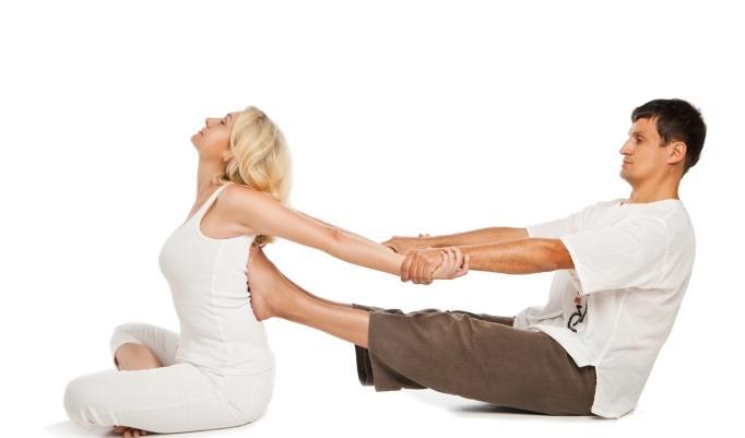 kurze Thai-Yoga Massage Einheit