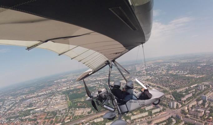 Trike Rundflug über Stadt