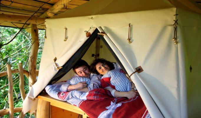Übernachtung im Baumbett für Zwei