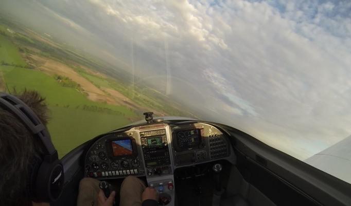 Cockpitausblick Ultraleichtflugzeug