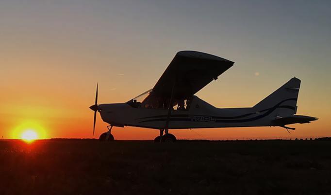Ultraleichtflugzeug fliegen in Freiberg