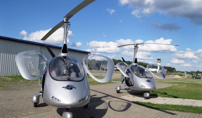 Gyrocopter Flug Rheine