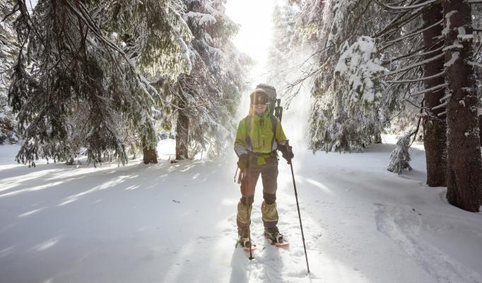 Schneeschuhwanderung bei gutem Wetter