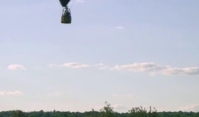 Start eines Heißluftballon Neuhof