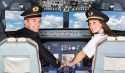 Spaß als Kapitäne im Flugsimulator