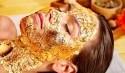 pflegende und verjüngende Goldmaske