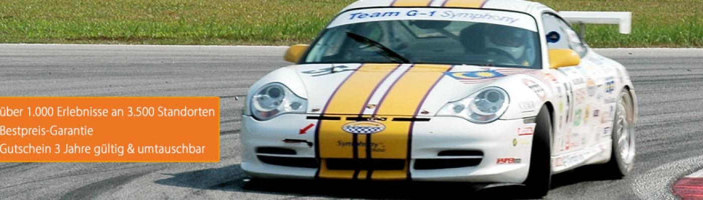 Porsche fahren auf Rennstrecke