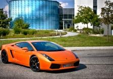 Orangener Lamborghini