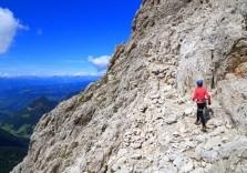 Tolle Landschaft beim Bergsteigen