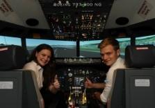 Flugsimulator in Boeing 737