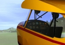 Flugsimulator Landschaft