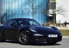 Schwarzer Porsche